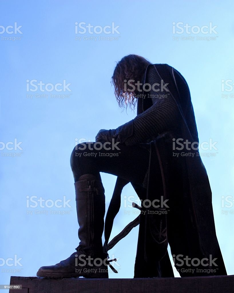 Knights Silhouette royalty-free stock photo