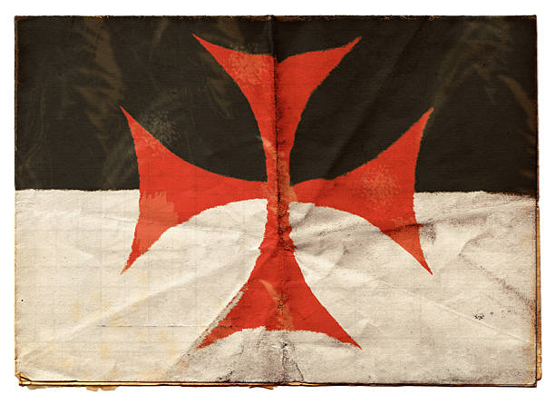 knights templar flag (xxl) - knights templar stock pictures, royalty-free photos & images