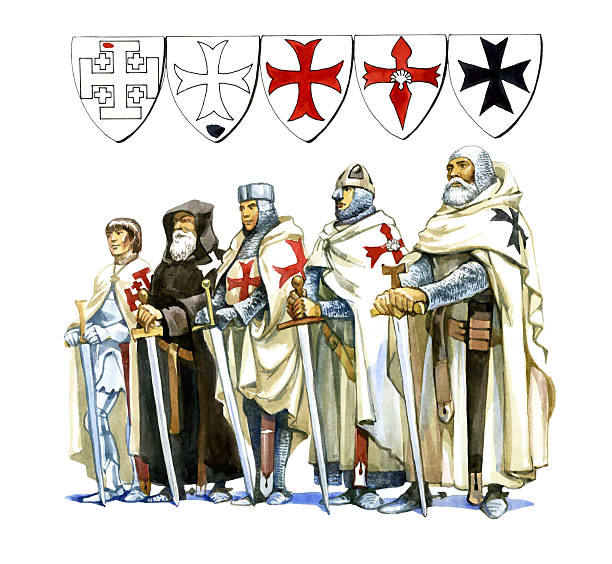 knights templar - the crusades stock photos and pictures