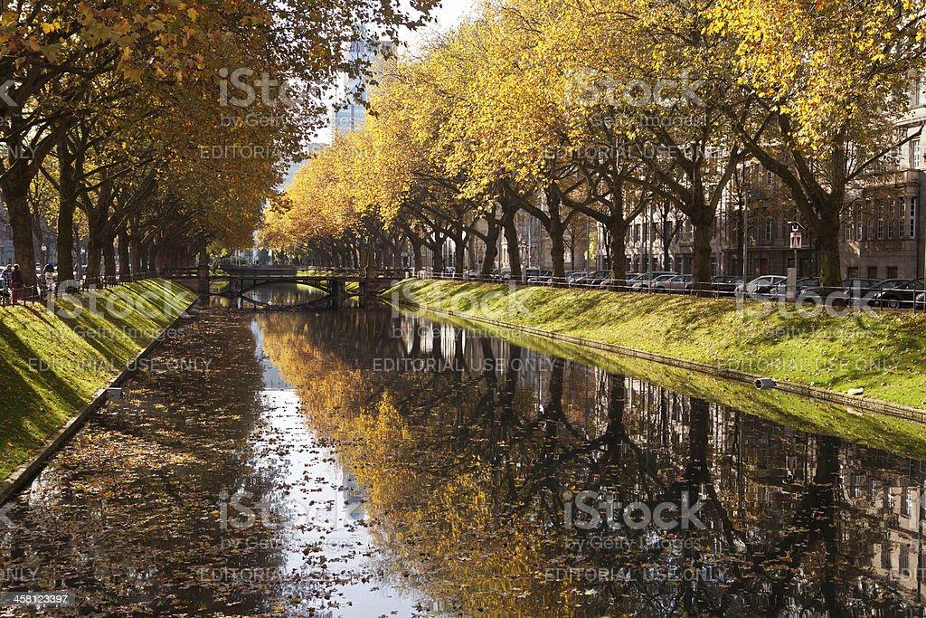 Königsalle in autumn stock photo