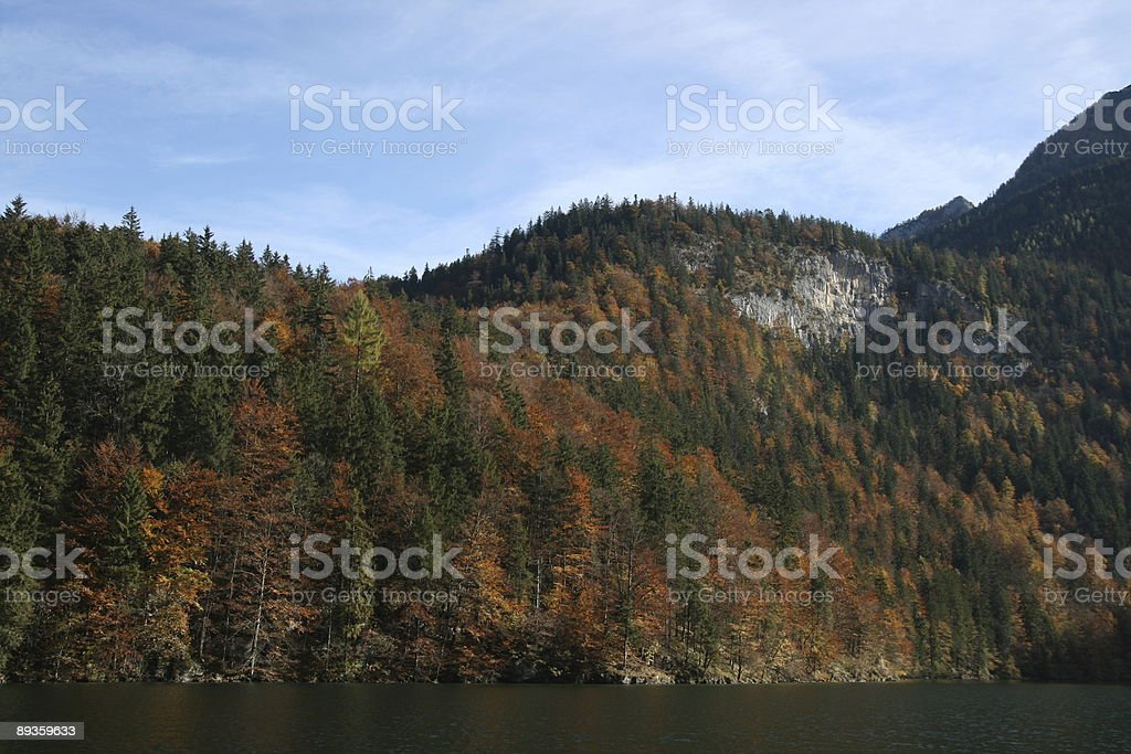Königssee Lake in Autumn royalty-free stock photo