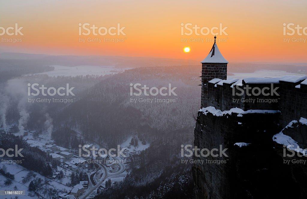Königstein Fortress stock photo