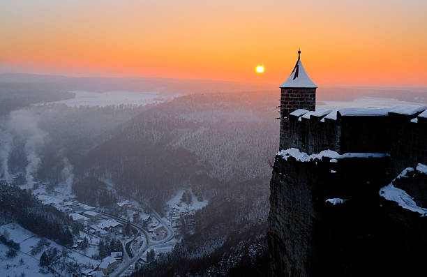 Königstein Fortress stock photo