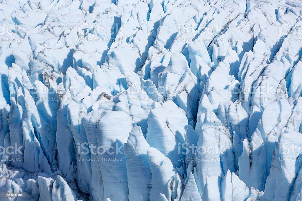 Knik River and Matanuska Glacier, Alaska Range stock photo