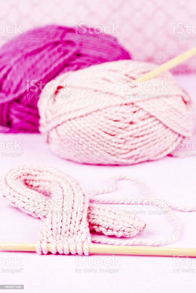 Knit for a Cure - Breast Cancer Awareness royalty-free stock photo
