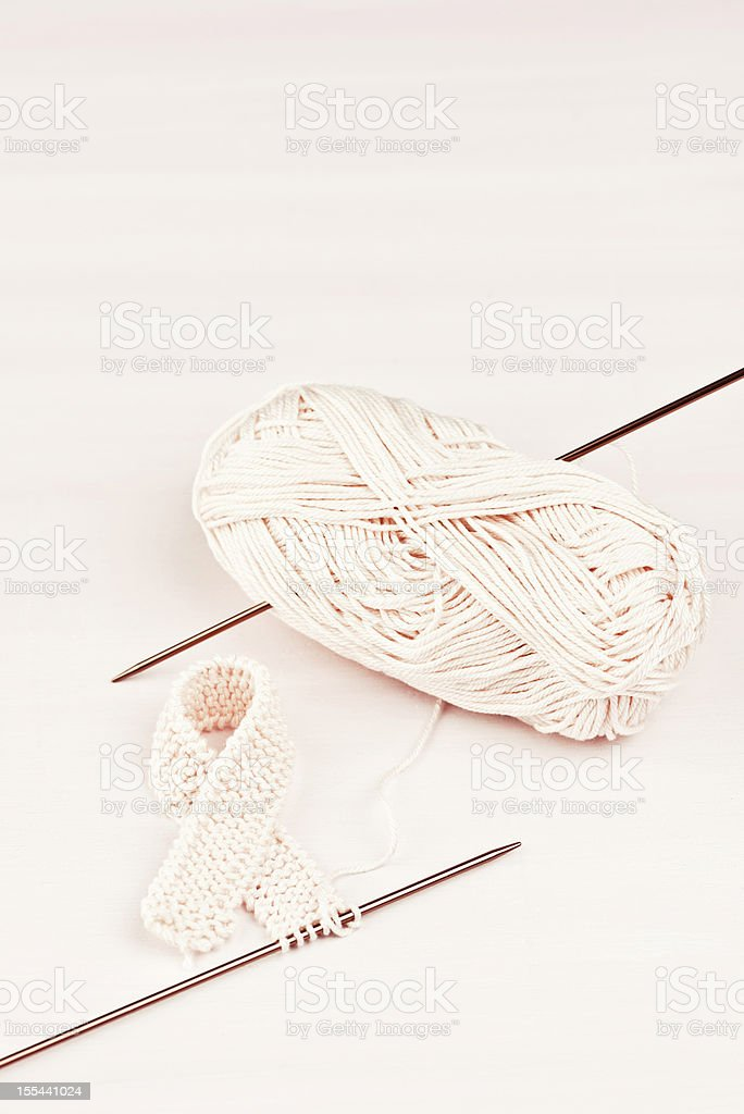 Knit for Breast Cancer Awareness royalty-free stock photo