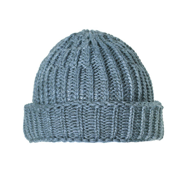 Knit hat Blue unisex knit hat (isolated on white) knit hat stock pictures, royalty-free photos & images