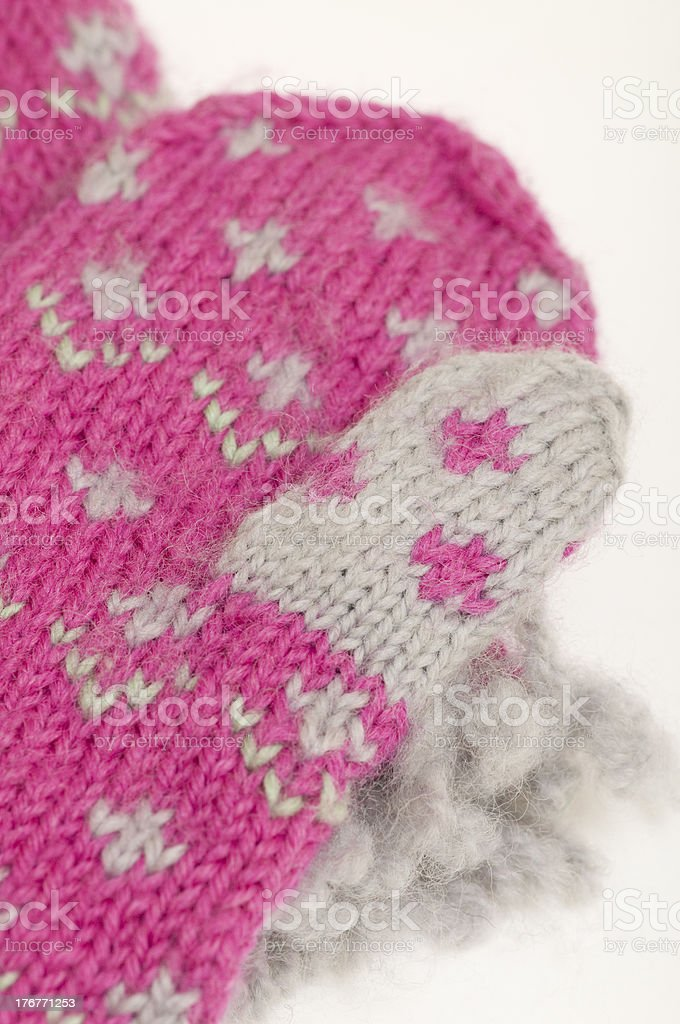 knit mittens royalty-free stock photo