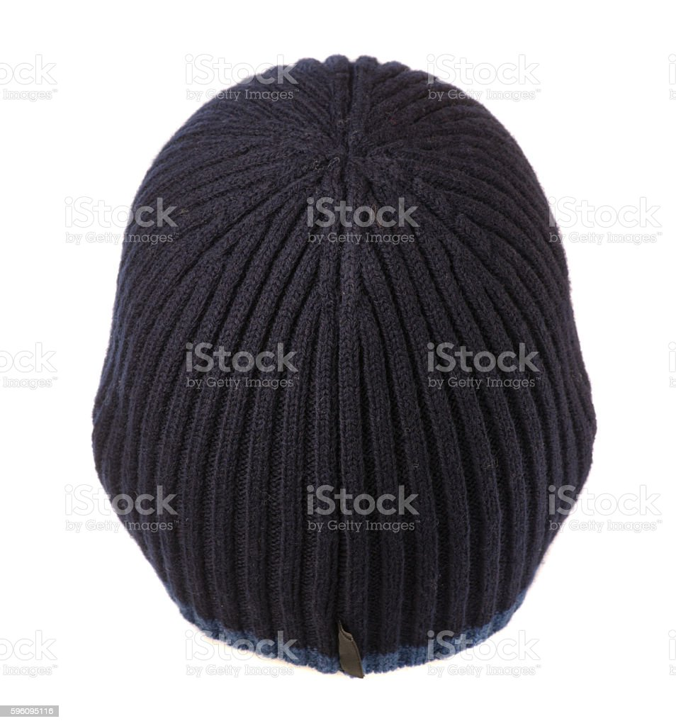 knitted  beanie isolated on white background royalty-free stock photo