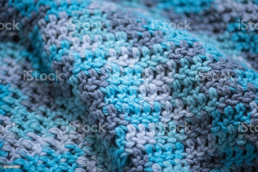 Knitted Blanket stock photo