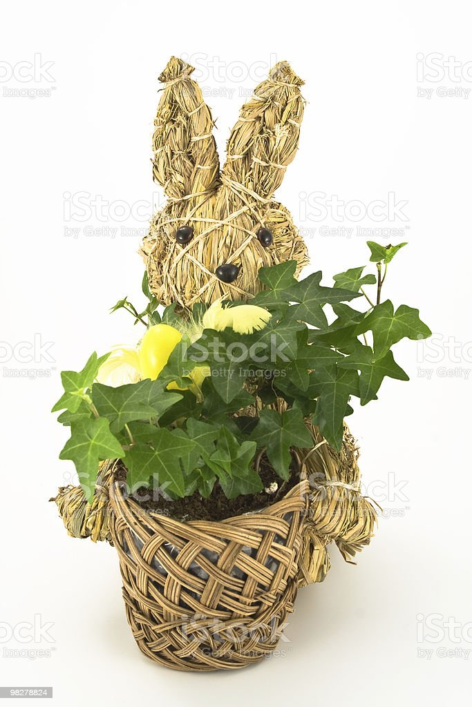 Knitted Easter Bunny royalty-free stock photo