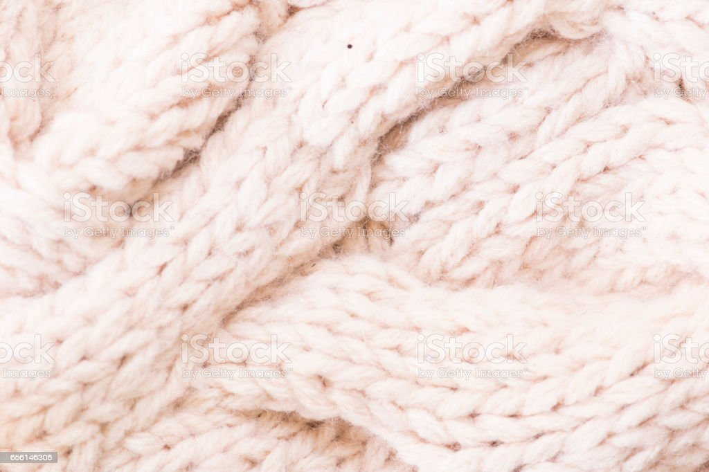 Knitted fabric wool texture close up as a background stock photo