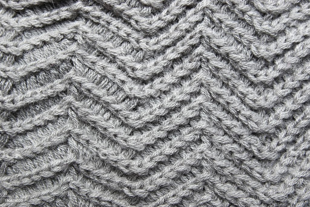 Knitted grey cloth royalty-free stock photo