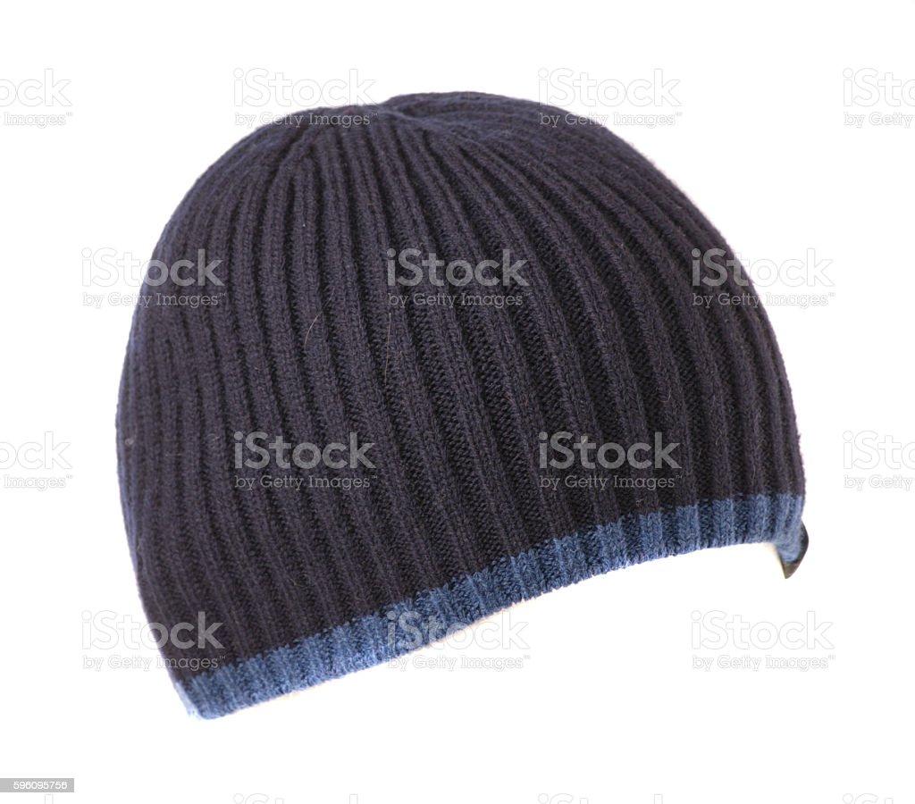 Gestrickte Mütze, isoliert auf weißem Hintergrund Lizenzfreies stock-foto