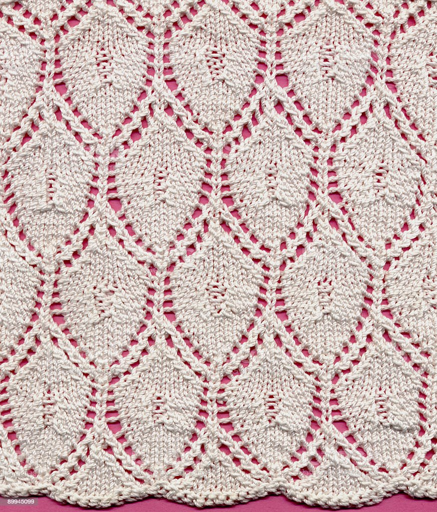 knitted lace ground stock photo