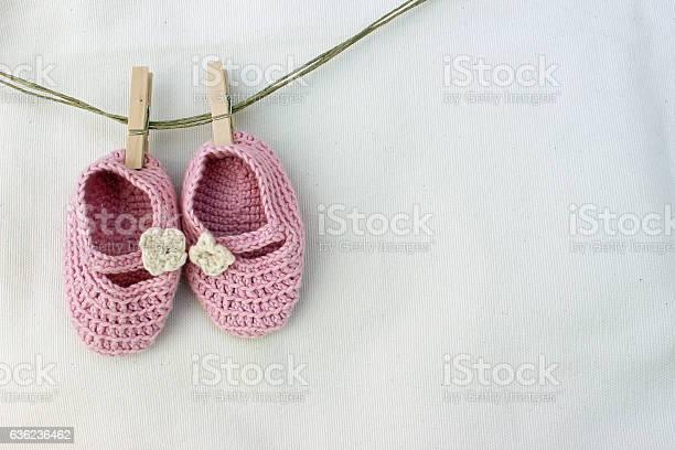 Knitted pink baby sandals picture id636236462?b=1&k=6&m=636236462&s=612x612&h=3enlyhs1zqkagydlix4zz7za b6spzgllnfcx7guufw=