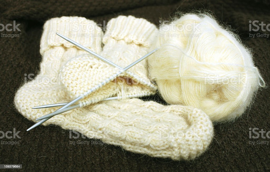 Knitted socks royalty-free stock photo