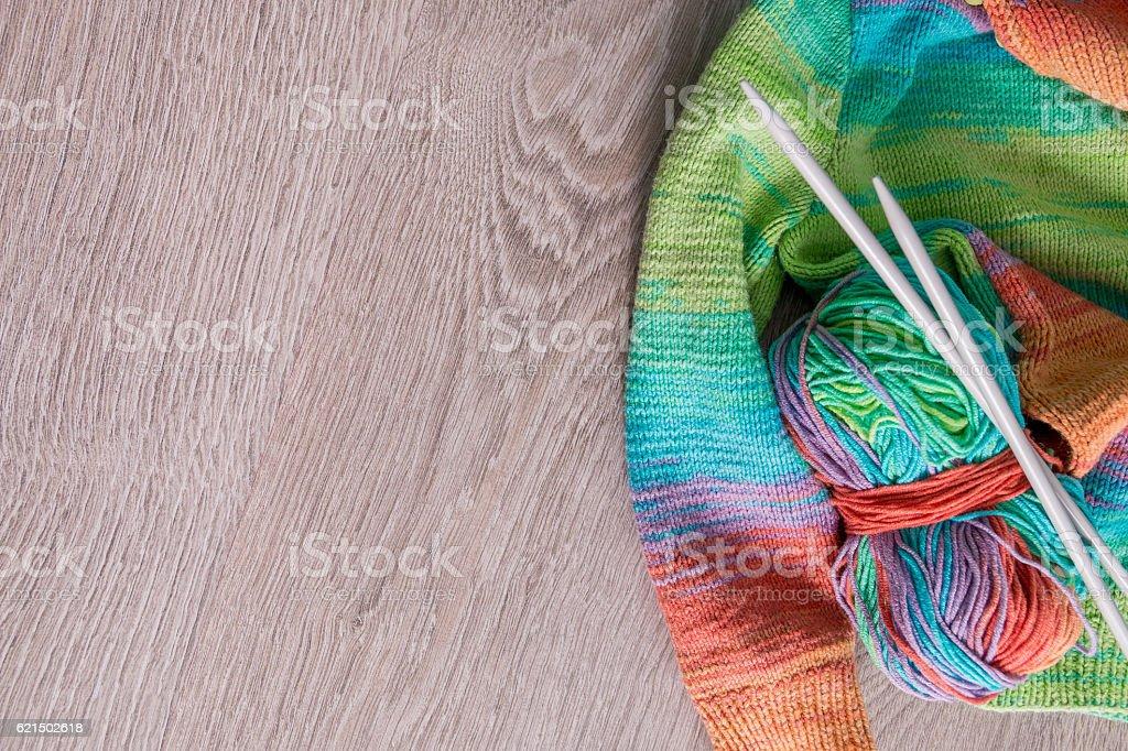 Knitted sweater.  handmade Lizenzfreies stock-foto
