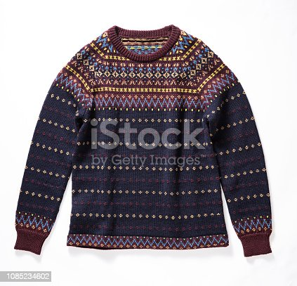 Knitted sweater isolated on white background( with clipping path)