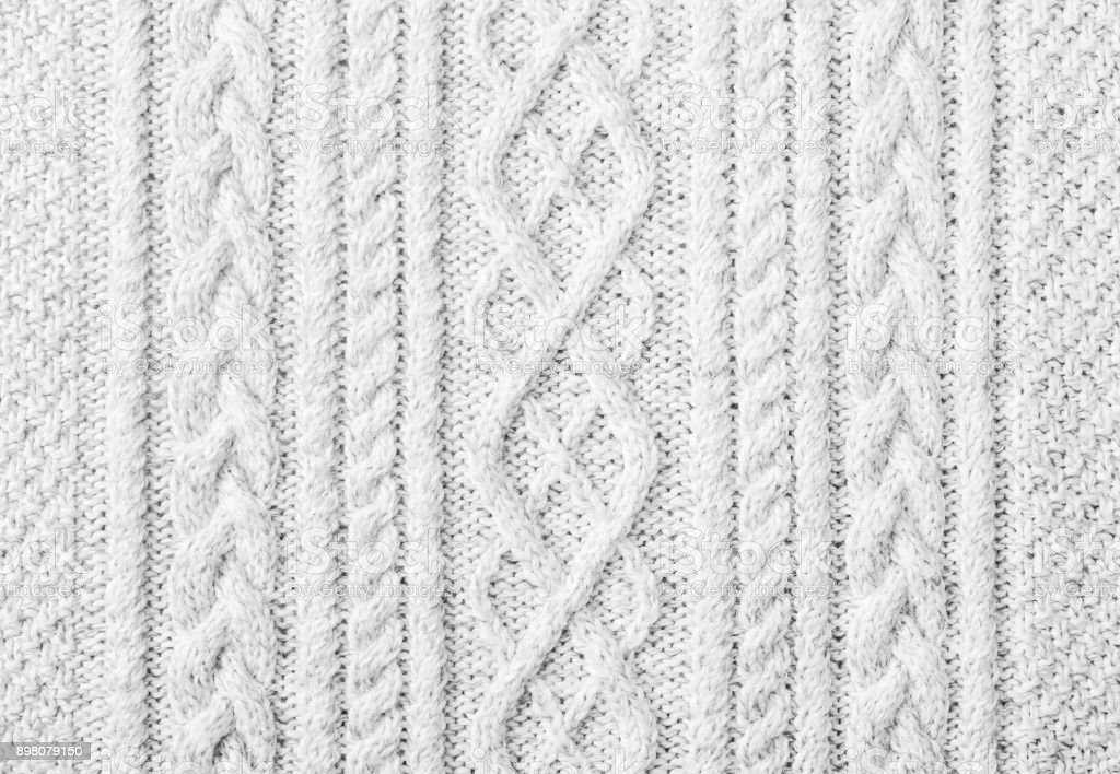 Knitted sweater texture, background with copy space