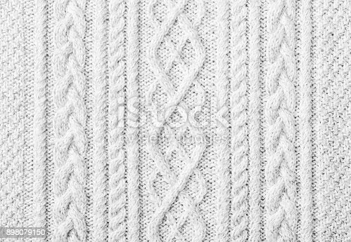 istock Knitted sweater texture, background with copy space 898079150