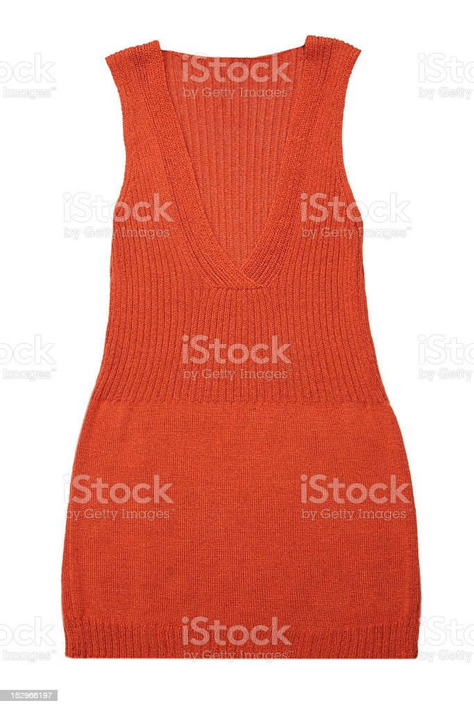 Knitted vest royalty-free stock photo