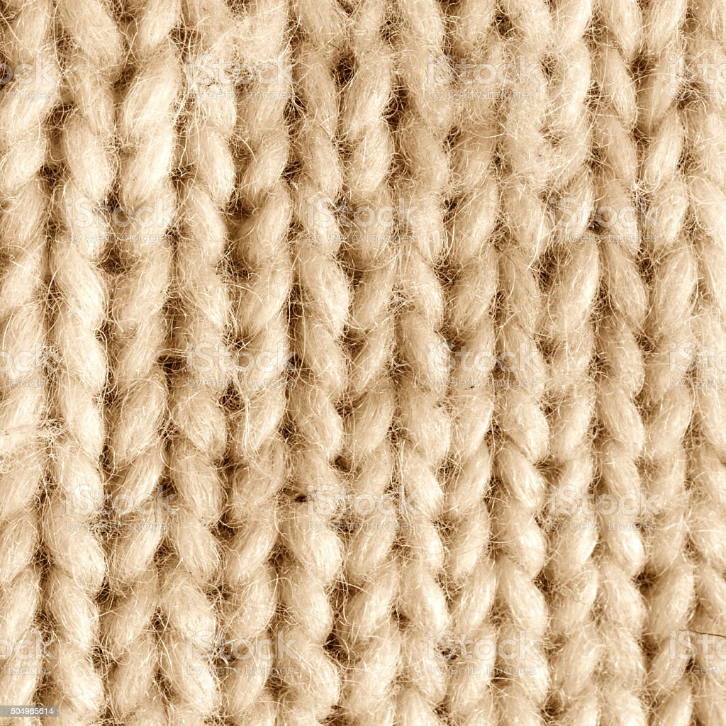 Knitted Wool - Close Up stock photo