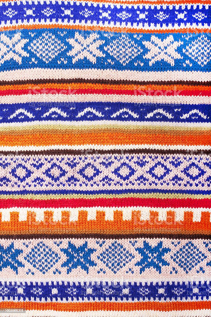 Knitted wool pattern royalty-free stock photo