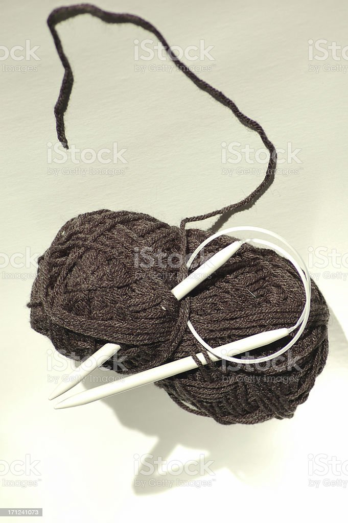 Knitting 1 royalty-free stock photo