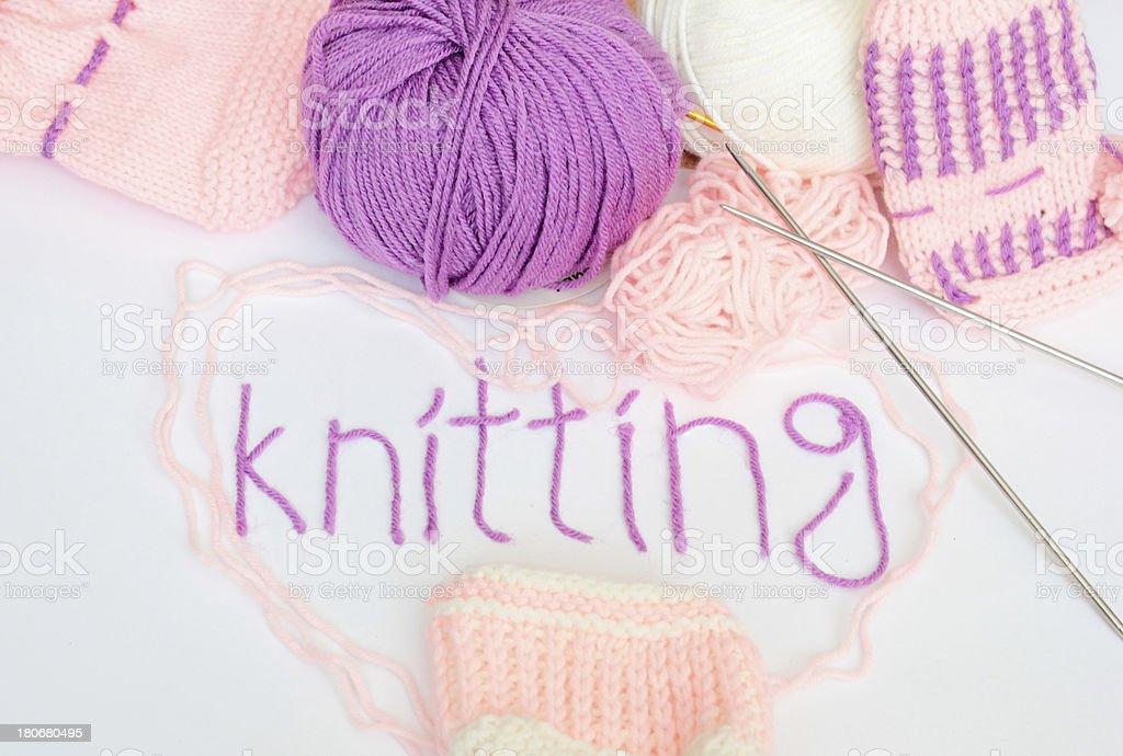 Knitting. Crafts. royalty-free stock photo