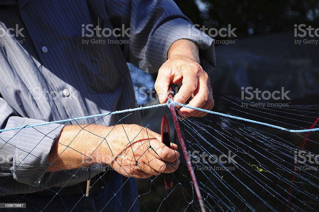 knitting fishing net royalty-free stock photo