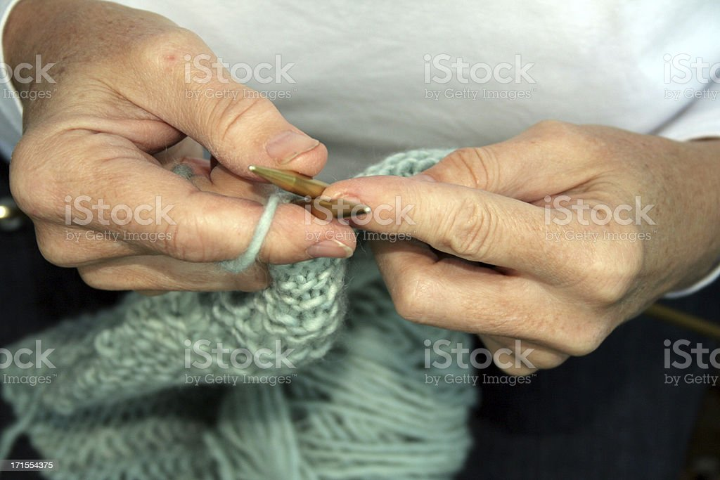 knitting hands royalty-free stock photo