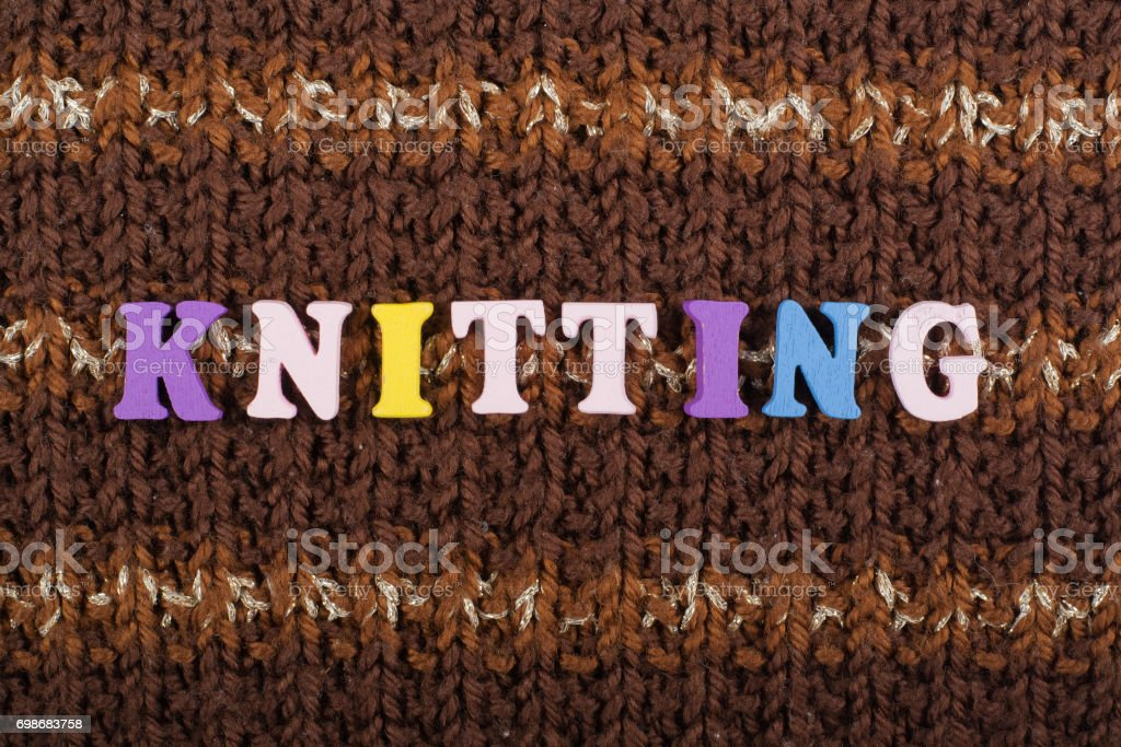 Knitting Knitted Fabric Texture Word Composed From Abc Alphabet ...