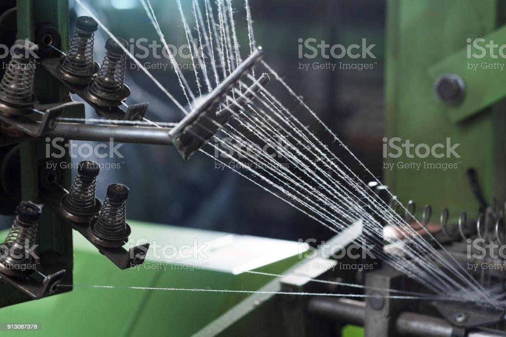 knitting machine stock photo