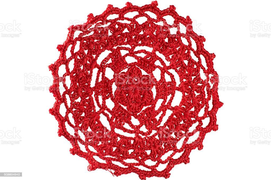 Knitting napkin stock photo