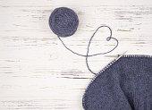 Senior Woman With Arthritic Hands Doing Crochet