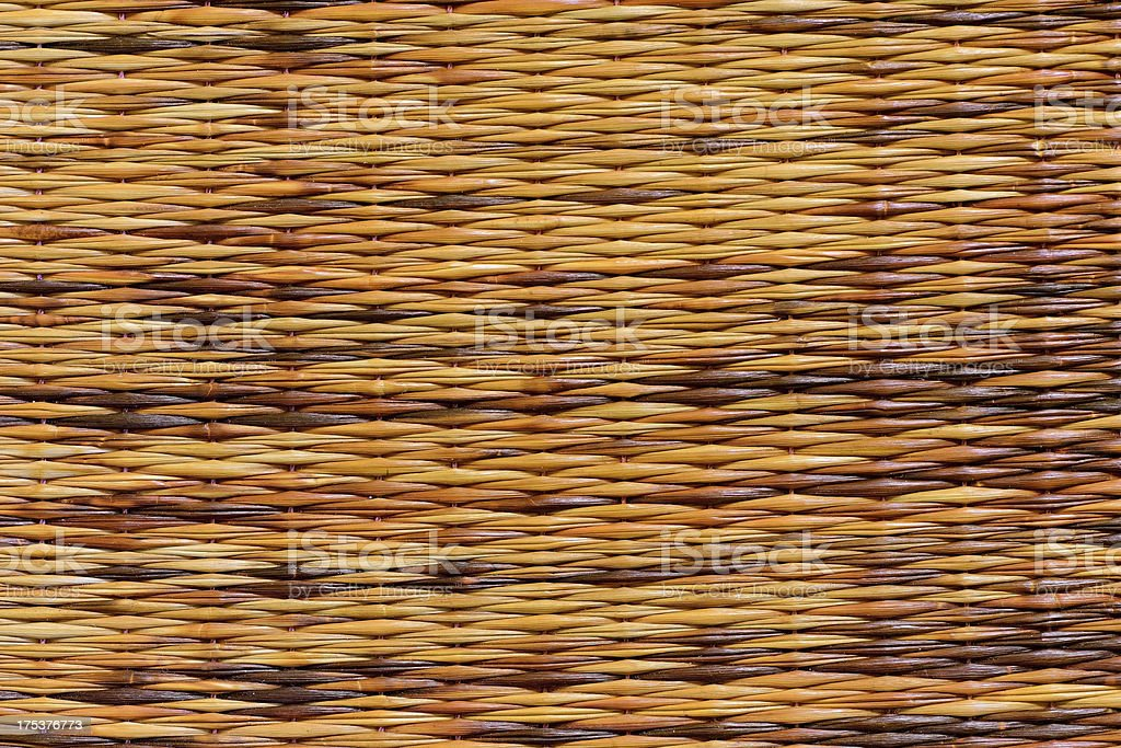 Knitting of Brown Plastic Pattern close-up royalty-free stock photo