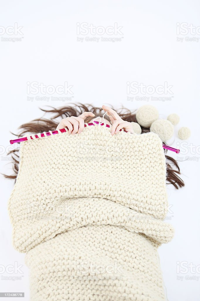 knitting royalty-free stock photo