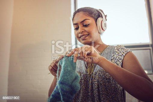 Women knitting socks