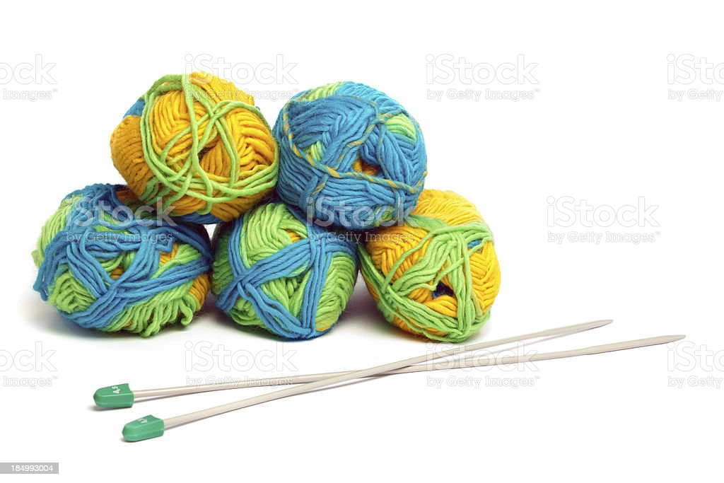 Knitting supplies royalty-free stock photo