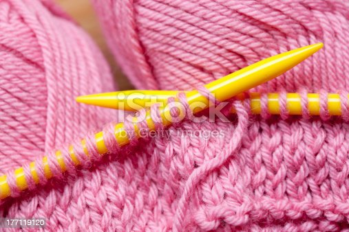 istock Knitting with Wool 177119120