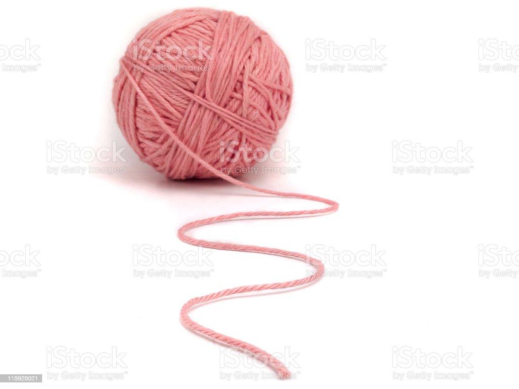 Knitting yarn forming a path royalty-free stock photo