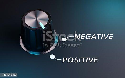 Knob negative to positive, 3d render