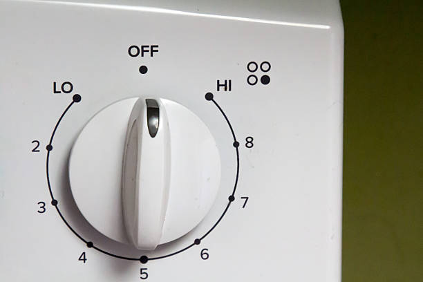 Knob on an electric oven