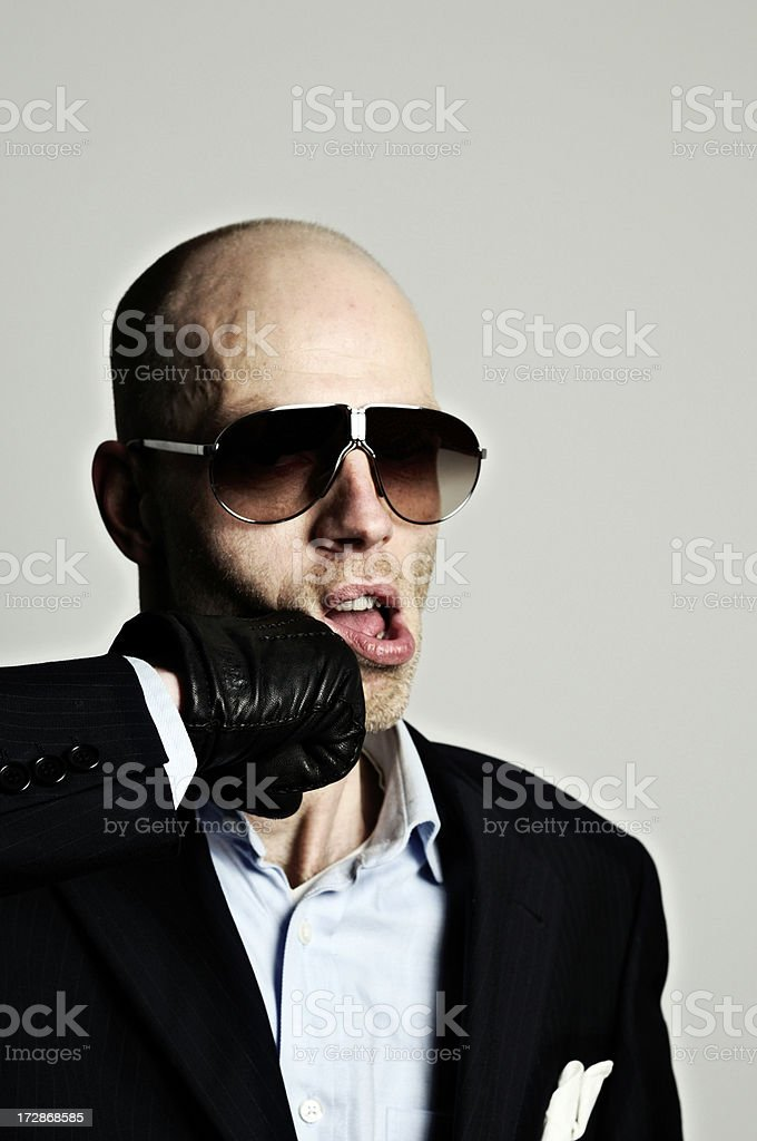 knock out macho man stock photo