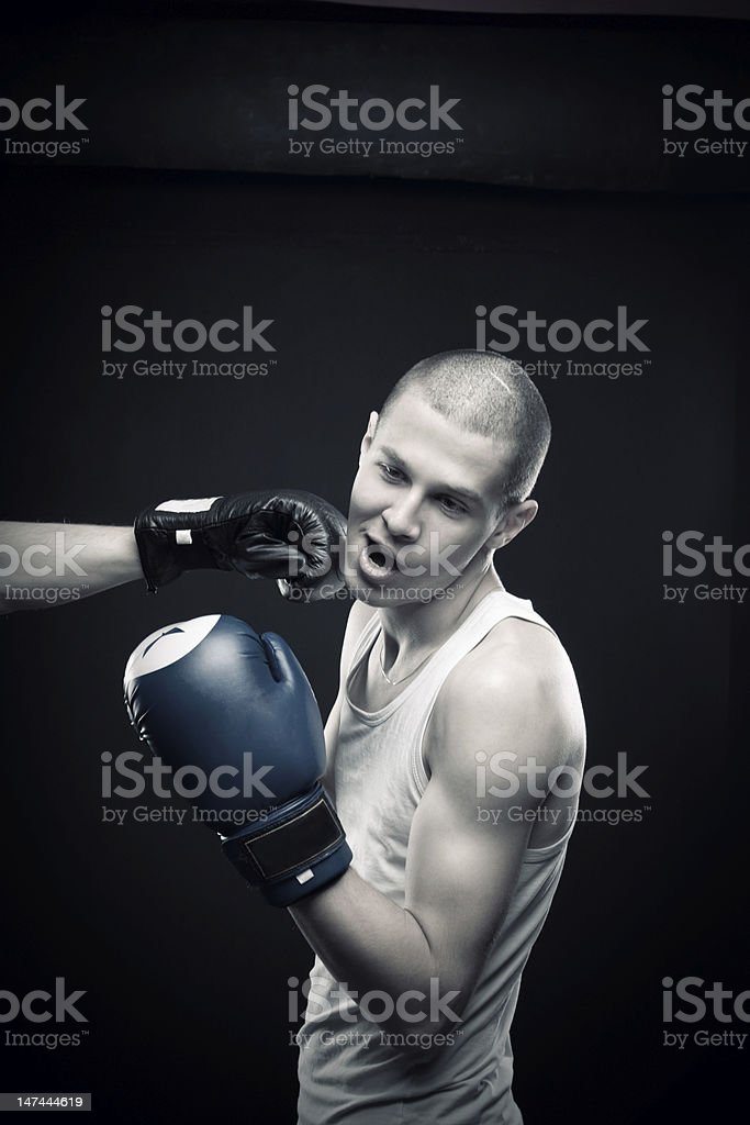 Knock out royalty-free stock photo