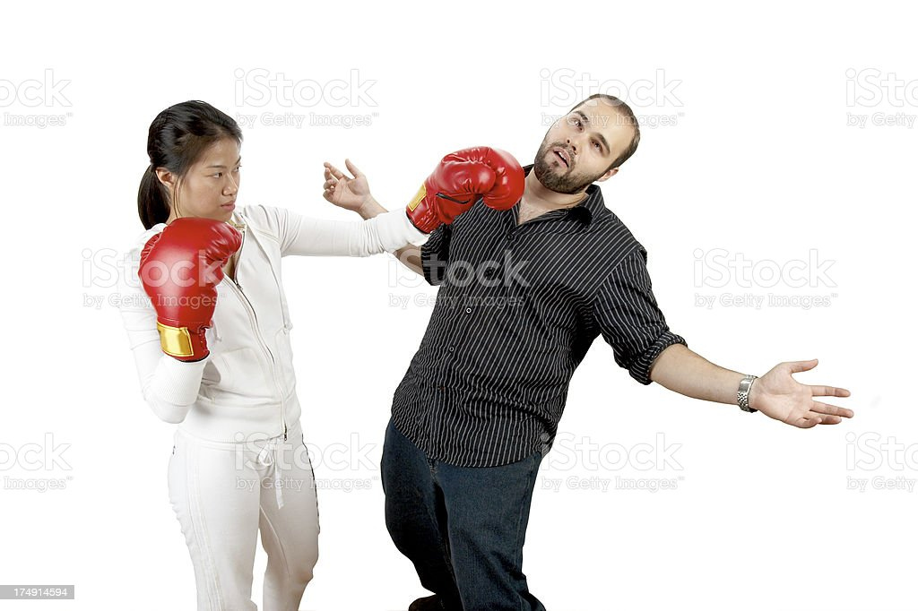 Knocked out by model royalty-free stock photo