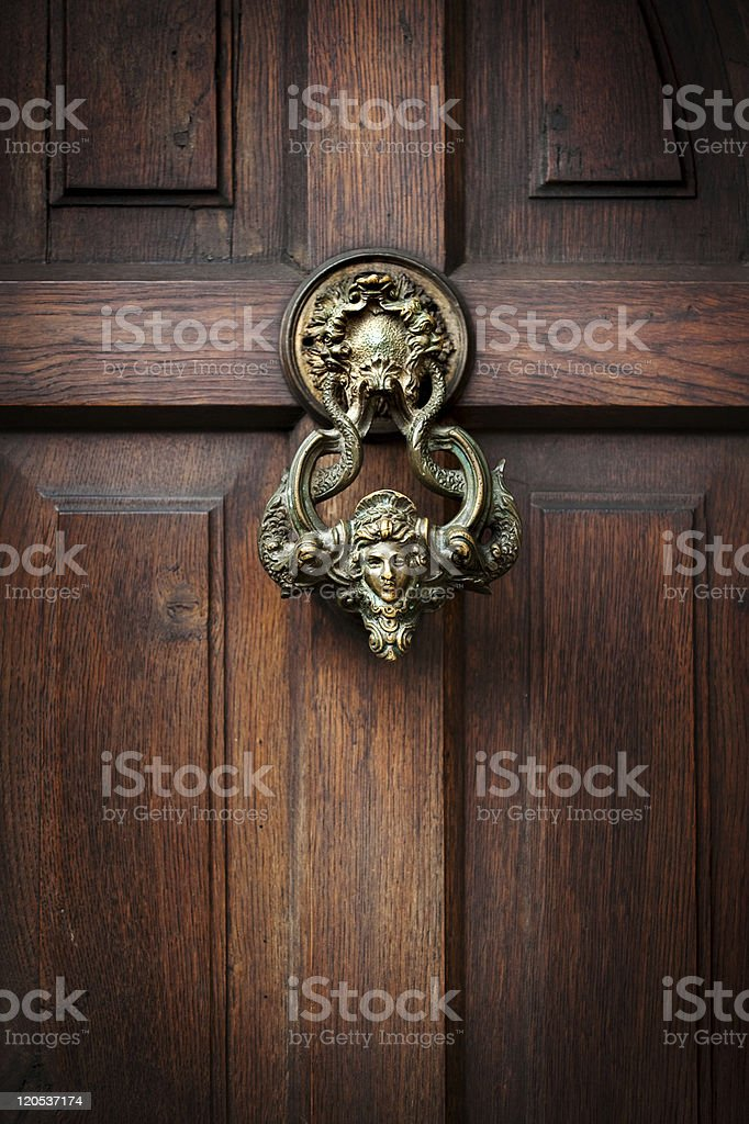 Knocking on Dracula's door stock photo