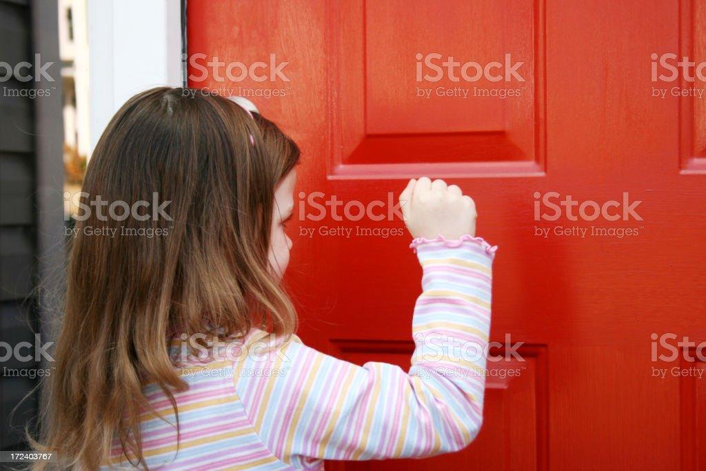 Knocking stock photo