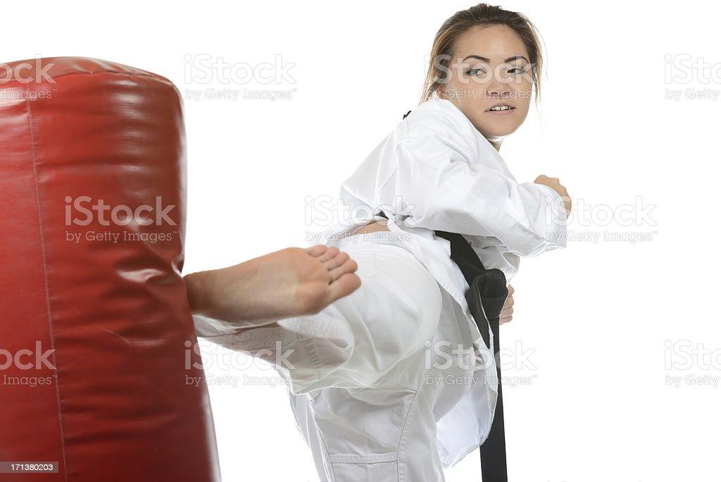 Knocking'em down stock photo